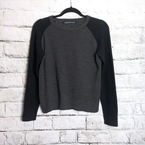 French Connection Color Block Pullover Sweater L